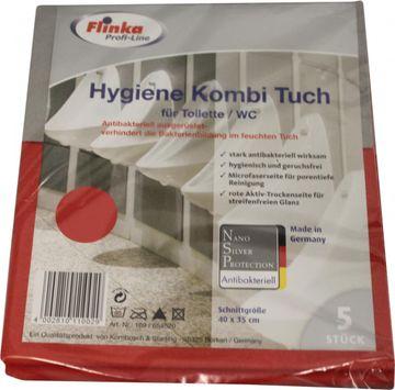 Flinka Profi Hygiene Kombituch Toilette, WC 5er Pack