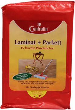 Centralin Laminat und Parkett-Feuchttücher 15 Stück – Bild 1
