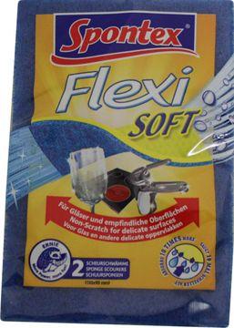 Spontex Flexi Soft für Glas & empfindliche Oberflächen 2er Pack