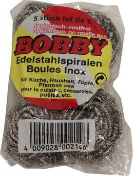 Bobby Edelstahl-Spiralen 5er Pack