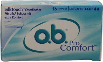 O.B. Tampons Pro Comfort Leichte Tage 16 Stück – Bild 1