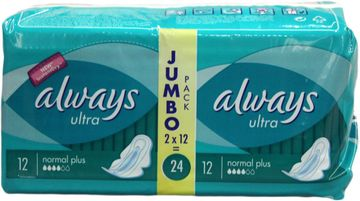 ALWAYS Jumbopack Ultra Normal Plus 24er Pack – Bild 1