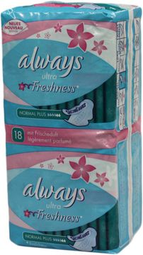 ALWAYS Jumbopack Ultra Normal Plus Freshness 18er Pack