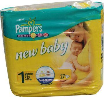 Pampers New Baby Newborn 2-5kg Größe 1 27er Pack – Bild 1