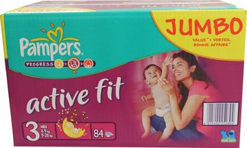 Pampers Active Fit Midi 4-9kg Größe 3 84er Pack – Bild 1