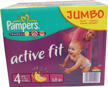 Pampers Active Fit Maxi 7-18kg Größe 4 68er Pack – Bild 1
