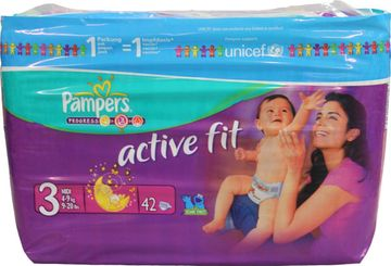 Pampers Active Fit Midi 4-9kg Größe 3 42er Pack – Bild 1