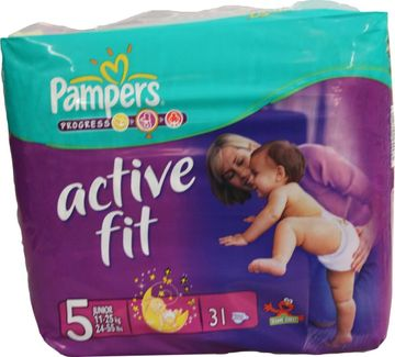 Pampers Active Fit Junior 11-25kg 31er Pack – Bild 1