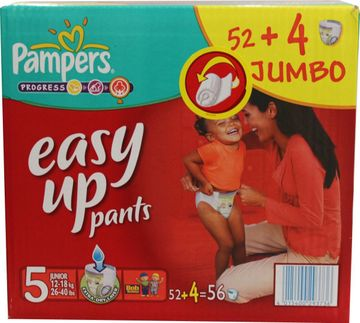 Pampers Easy Up Junior 12-18kg Größe 5 52er Pack – Bild 2