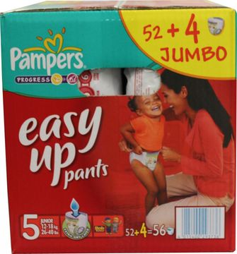 Pampers Easy Up Junior 12-18kg Größe 5 52er Pack – Bild 1