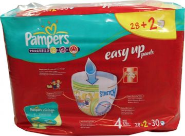 Pampers Easy Up Maxi 8-15kg Größe 4 28er Pack – Bild 3