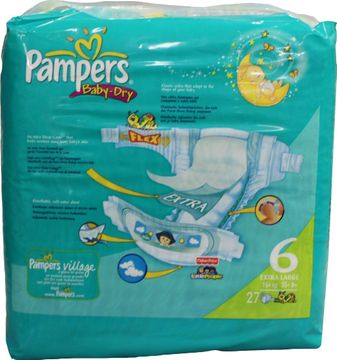 Pampers Baby Dry Extra Large 16-30kg 26er Pack – Bild 3