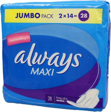 ALWAYS Jumbopack Maxi Long Plus 28er Pack – Bild 3