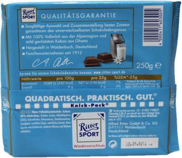Ritter Sport Alpenmilch 250g – Bild 2