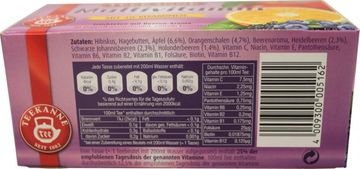 Teekanne Früchte Tee Multivitamin 20 Beutel – Bild 4