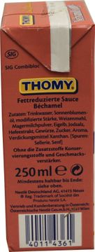 Thomy Les Sauces Bechamel Legere 250ml – Bild 3