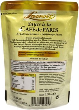 Lacroix Sauce Cafe de Paris 150ml – Bild 2