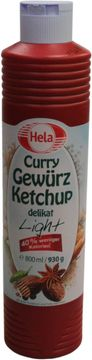 Hela Curry Gewürz Ketchup delikat light 800ml