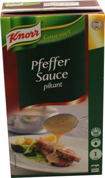 Knorr Gourmet Pfeffer Sauce pikant 1L – Bild 1