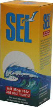 SEL Meersalz mit Jod und Fluorid 500g – Bild 1