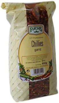 Fuchs Chillies ganz 500g