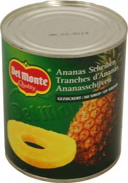 Del Monte Ananas in Scheiben Sirup 500g