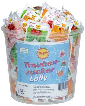 Frigeo Traubenzucker Lolly 100 Stück – Bild 1