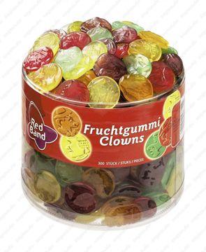 Red Band Fruchtgummi Clowns 300 Stück = 1,35kg