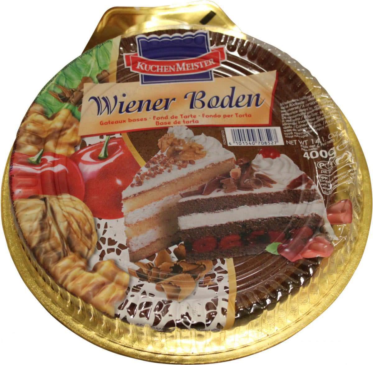 Kuchenmeister Wiener Boden Dunkel 400g Feinkost Lebensmittel Brot