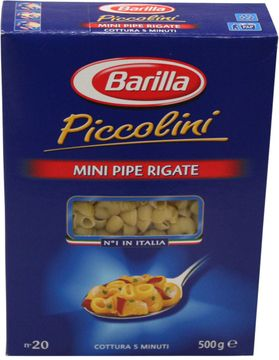 Barilla Mini Pipe Rigate 500g