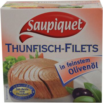 Saupiquet Thunfisch Filet in Olivenöl 130g – Bild 1
