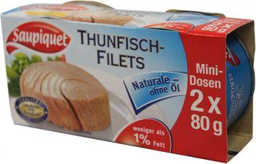 Saupiquet Thunfisch Filet naturale ohne Öl 112g – Bild 2
