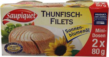 Saupiquet Thunfisch Fliet in Sonnenblumenöl 104g – Bild 1