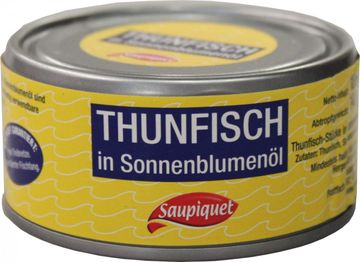 Saupiquet Thunfisch Filet in Sonneblumenöl 130g – Bild 3
