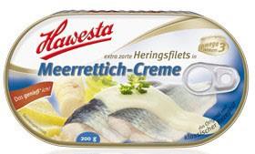Hawesta Heringsfilets Meerrettichcreme 200g