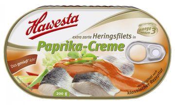 Hawesta Heringsfilets Paprikacreme 200g – Bild 1