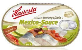 Hawesta Heringsfilets Mexiko-Sauce 200g – Bild 1