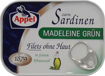 Appel Sardinenfilets Madeleine 105g – Bild 1