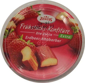 Zentis Frühstückskonfitüre Erdbeer-Rhabarber 200g