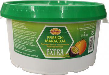 Göbber Pfirsich-Maracuja Konfitüre Extra 3kg – Bild 1