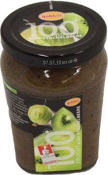 Göbber Fruchtaufstrich Kiwi-Stachelbeere 310g – Bild 1