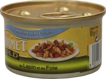Gourmet Gold Feine Komposition Kaninchen + Leber 85g – Bild 2