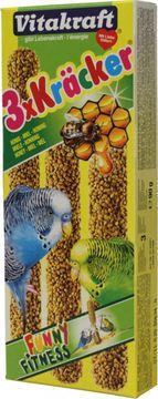 Vitakraft Sittich Kräcker Honig 3er Pack (90g)