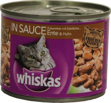 Whiskas in Sauce Ente + Huhn 195g