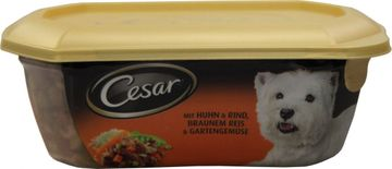 Cesar Multi-Menue Huhn Rind Reis 280g – Bild 2