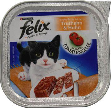 Felix Häppchen Truthahn & Huhn in Tomatengelee 100g – Bild 1