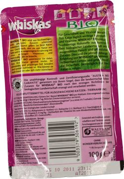 Whiskas Bio Truthahn + Gemüse 100g – Bild 2
