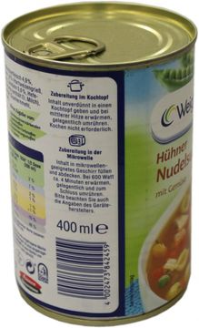 Weight Watchers Hühner Nudelsuppe 400ml – Bild 3