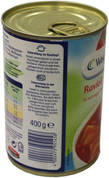 Weight Watchers Ravioli in Tomatensauce 400g – Bild 2