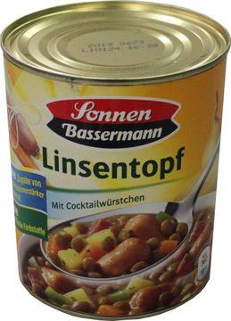 Sonnen Bassermann Linsentopf 800g – Bild 1